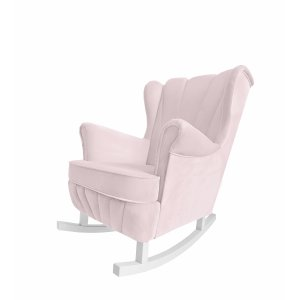 Baby pink rocking armchair Shell