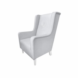 Armchair Modern grey with emblem