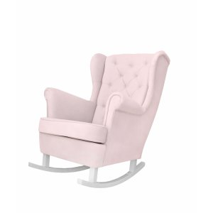 Baby pink rocking armchair