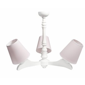 Baby pink triple arm chandelier