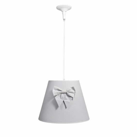 grey chandelier with bow