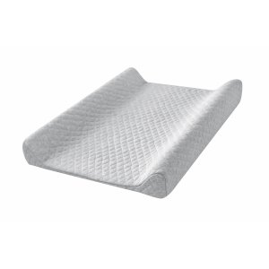 Quilted grey baby changing station