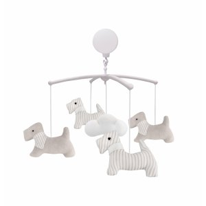 Baby carousel with beige dogs