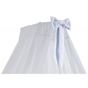 White standing canopy with azure bow