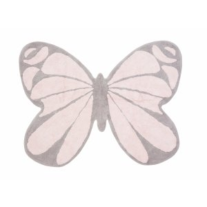 Rug pink butterfly