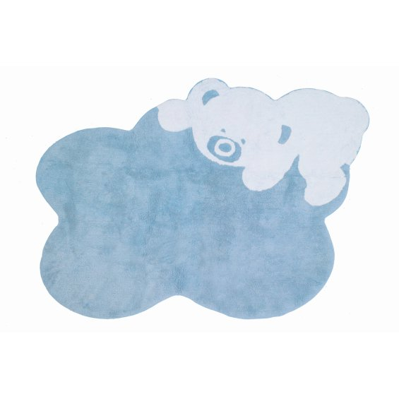 blue cloud rug with star