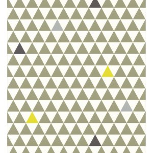 Wallpaper with green triangles Les Petits Curieux