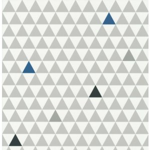 Wallpaper with grey triangles Les Petits Curieux