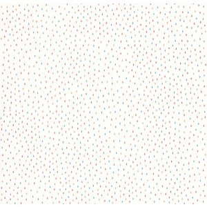 White wallpaper with colourful little dots Les Petits Curieux
