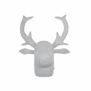 Grey knitwear moose's head